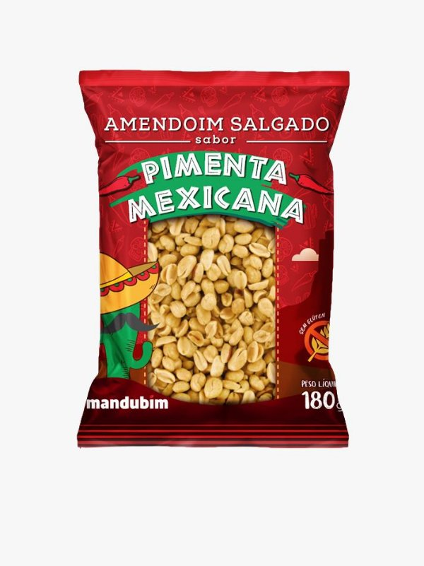 Amendoim Salgado Pimenta Mexicana 180g