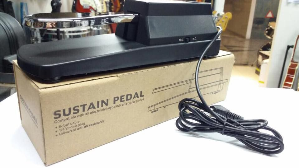 Pedal Sustain Universal Tipo Piano Com Chave Inversora