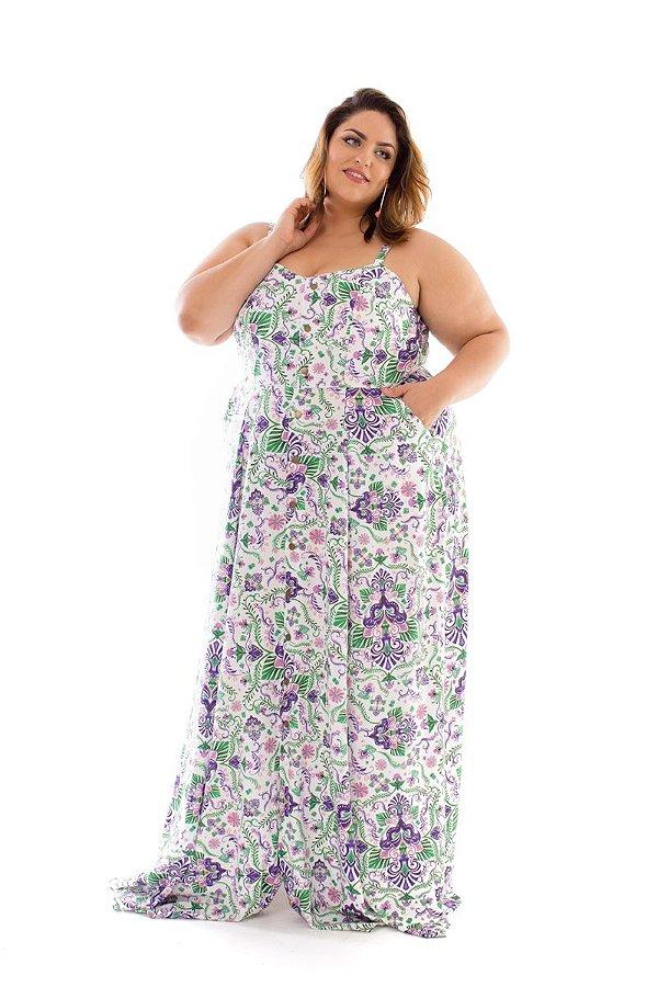 Vestido Plus Size Longo Málaga