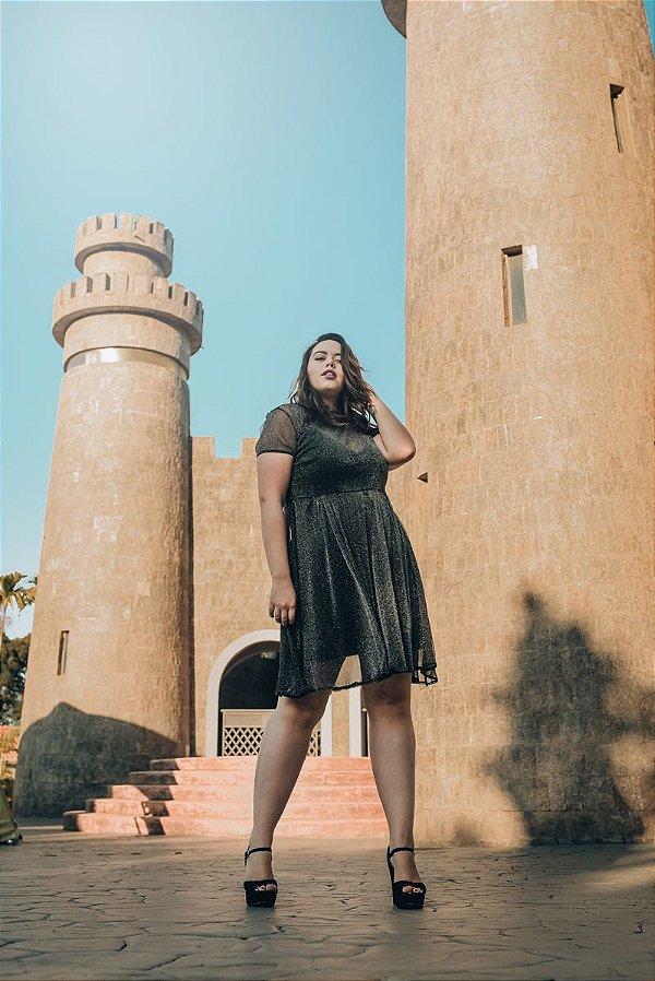 Vestido Plus Size Tule Lurex Alexandria