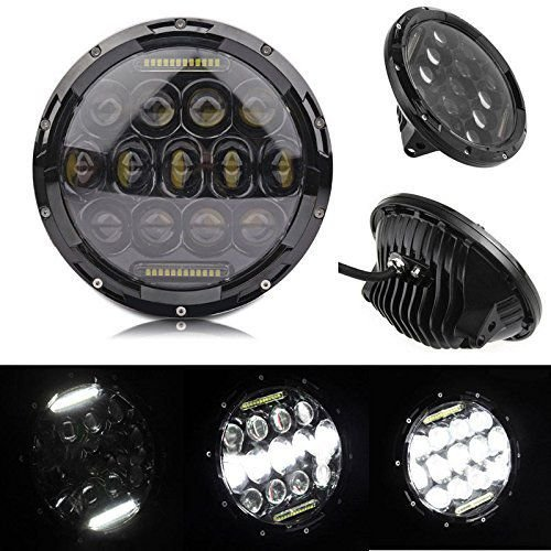 "FAROL FULL LED 7"" JEEP WRANGLER, DEFENDER E TROLLER DRL 78W"