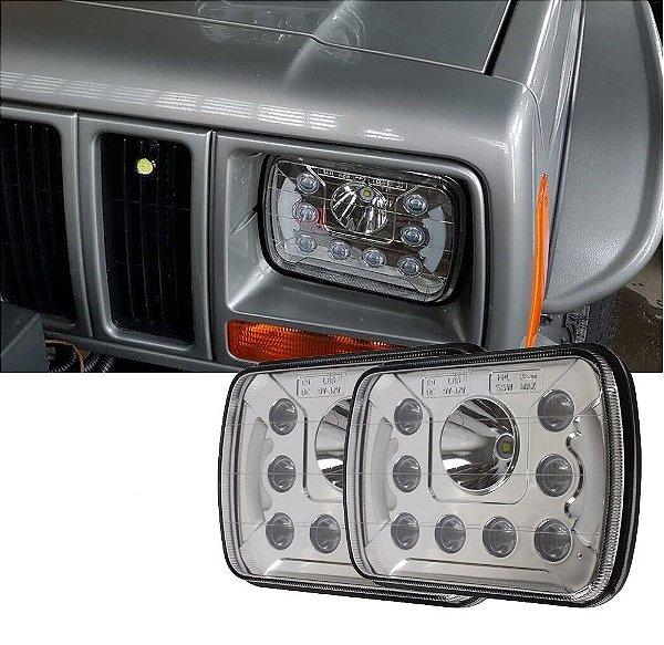 Farol Led Universal Jeep Cherokee 5x7 55W PAR