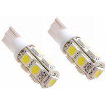 PAR LAMPADAS LED T10 W5W 9 LEDS SMD 5050 6000K