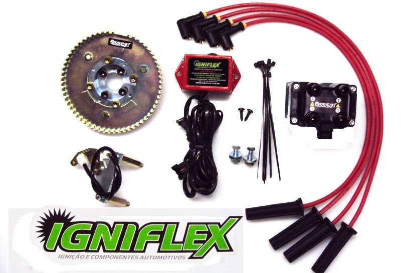 KIT IGNIFLEX VW AP 1.8 CARBURADOS C/POLIA V S- GASOLINA*