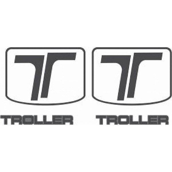 ADESIVO TROLLER - COLUNAS TRASEIRAS PRETO BRILHO