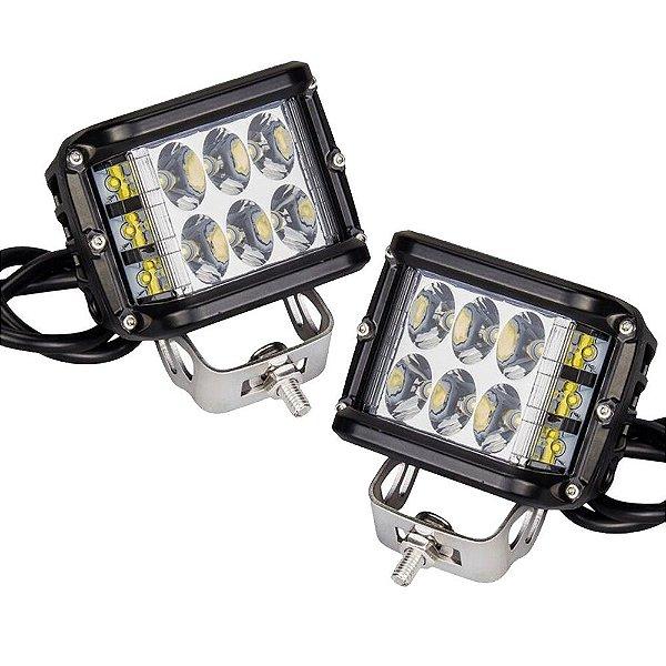 FAROL DE MILHA CREE LEDS 60W COM SIDE LEDS