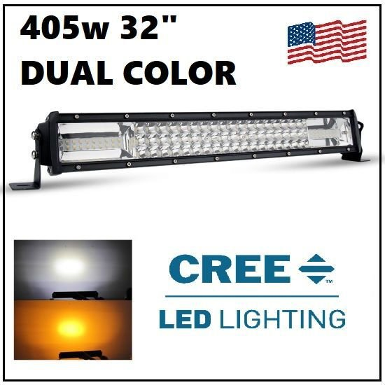 BARRA LED 405W 32 CURVA DUAL COLOR