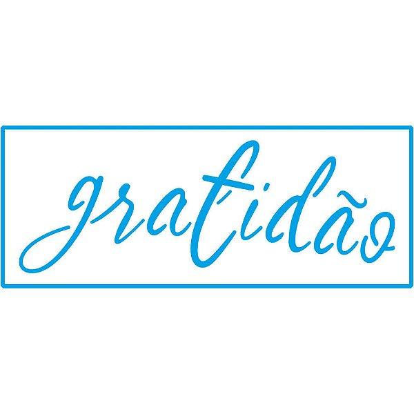 PALAVRA GRATIDÃO - STENCIL - STP-159