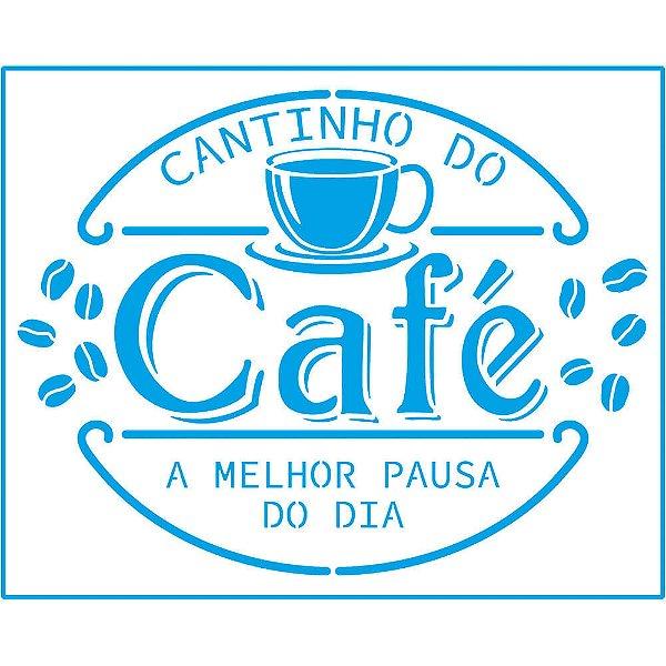STR-161 - STENCIL - CANTINHO DO CAFÉ
