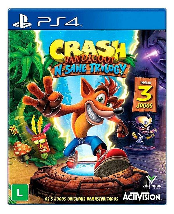 Crash BandicootN. Sane Trilogy para PS4 - Mídia Digital