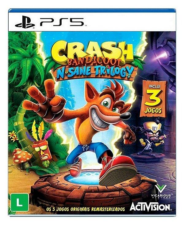 Crash BandicootN. Sane Trilogy para PS5 - Mídia Digital