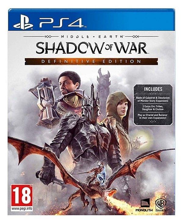 Terra-média™: Sombras da Guerra™ Edição Definitiva para ps4 - Mídia Digital