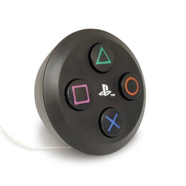 Botão Luminária PlayStation Preto