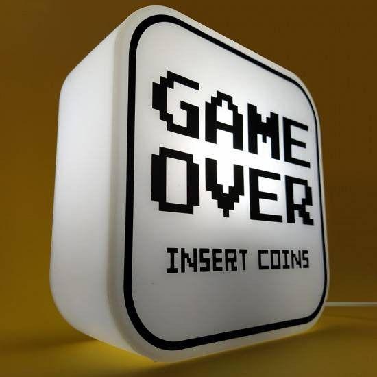 Box Luminária - Game over
