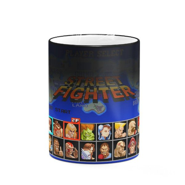 Caneca Mágica Gamer - Street Fighter Play Select