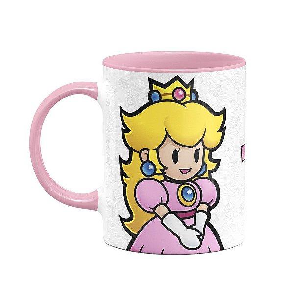 Caneca Mario - Princesa Peach B-pink