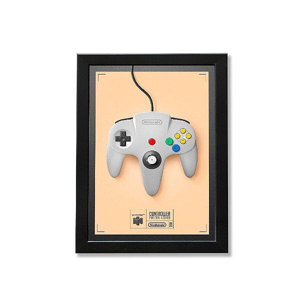 Quadro A4 - Poster Gamer Joystick Nintendo 64