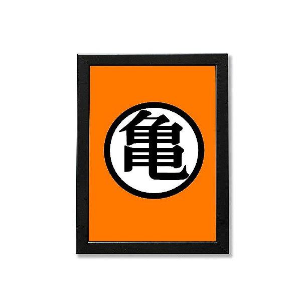 Quadro A4 - Dragão Ball Símbolo Sun Goku