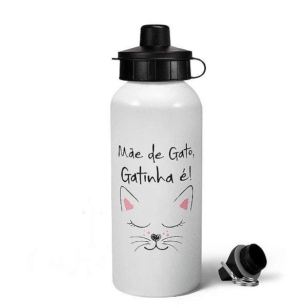 Garrafa Squeeze MQ6 - Mãe de gato, gatinha é