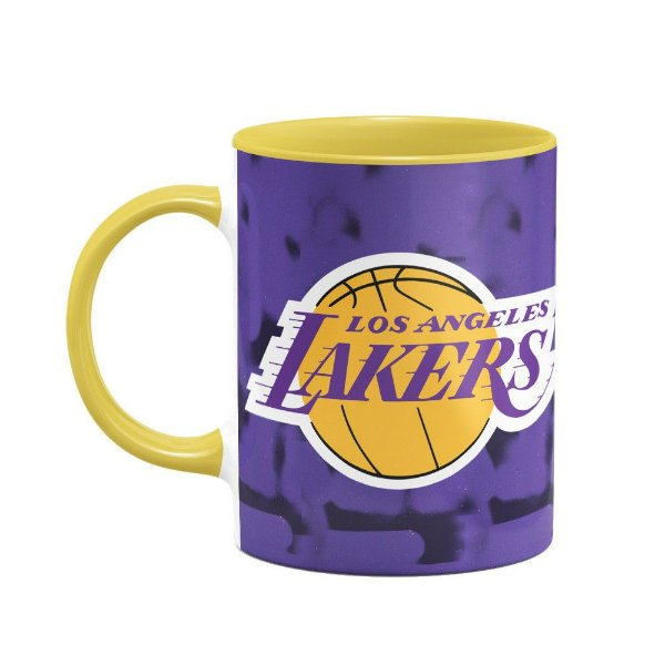 Caneca Basquete Lakers Los Angeles - B-yellow