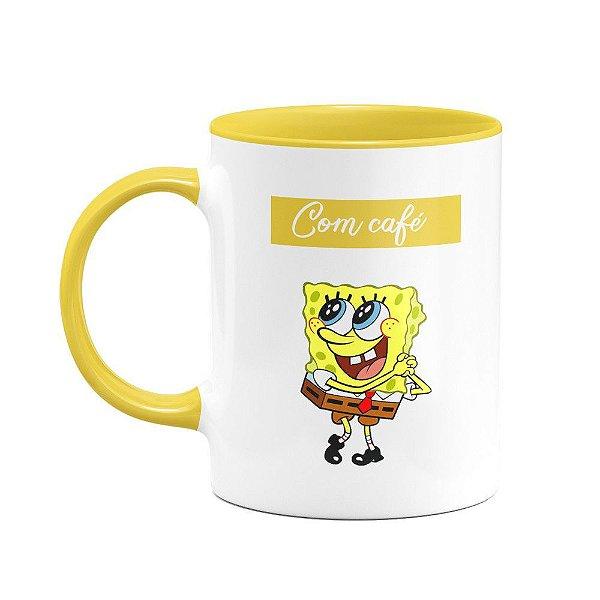 Caneca Bob esponja - Com café, sem café!