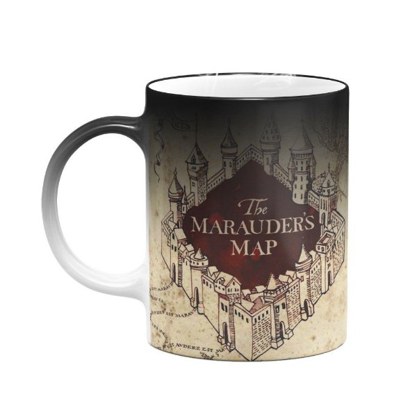 Caneca Mágica - Mapa do Maroto Harry Potter