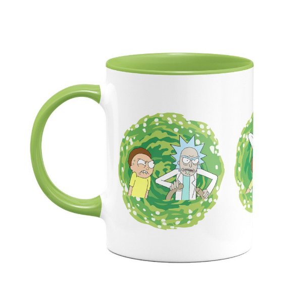 Caneca - Rick and Morty B-green