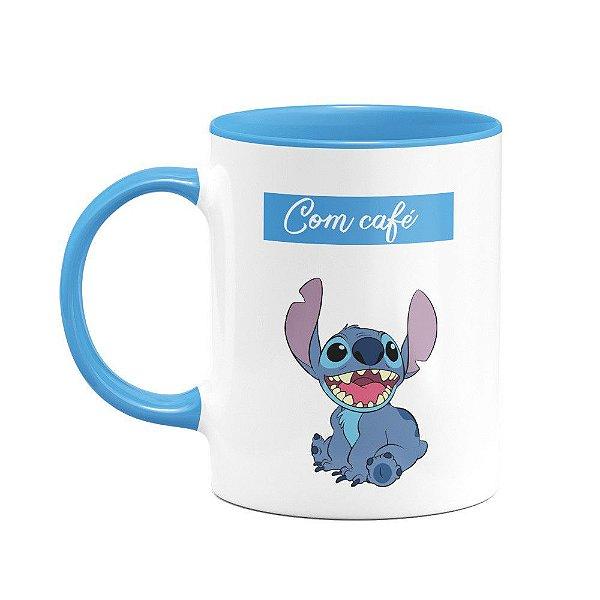 Caneca Stitch - Com café, sem café!