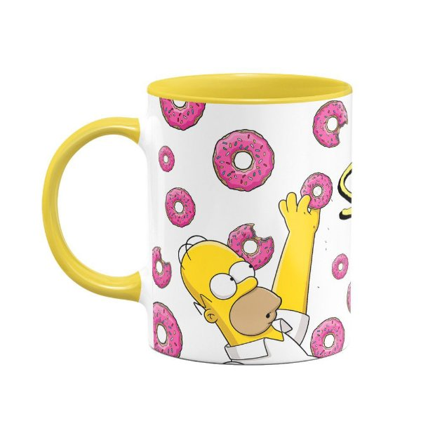 Caneca Simpsons - Homer Donuts