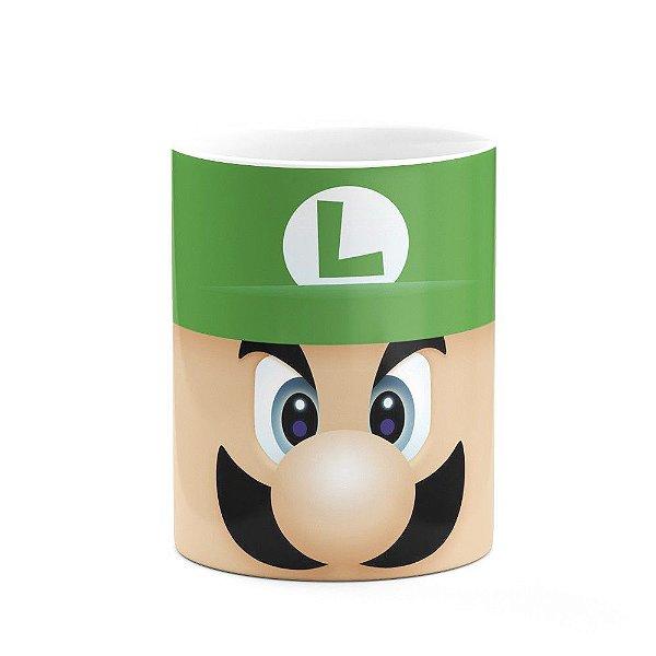 Caneca Gamer Luigi Face