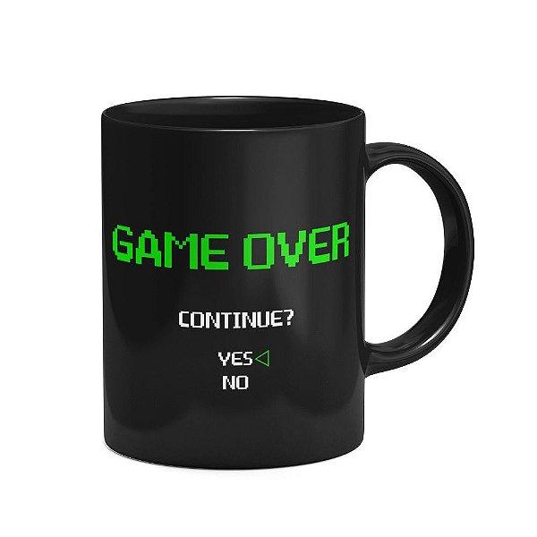 Caneca Geek Game Over - preta