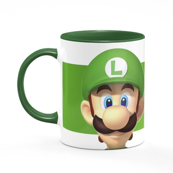 Caneca Gamer Luigi - B-green