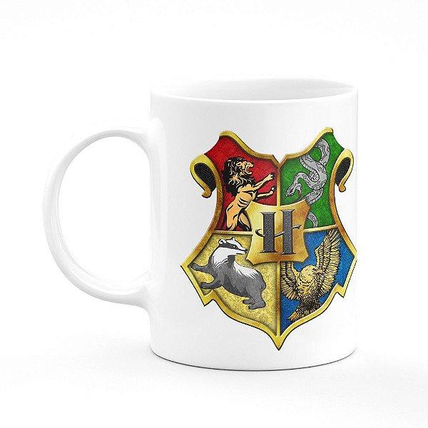 Caneca Casas Harry Potter - Branca