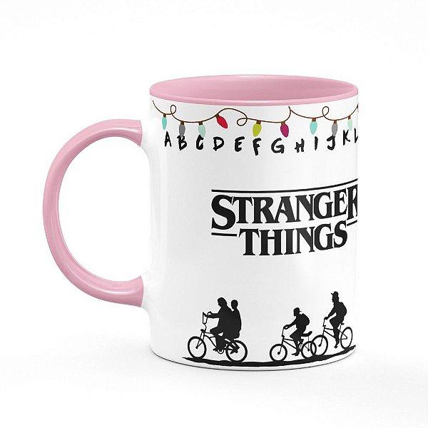 Caneca B-pink Stranger Things