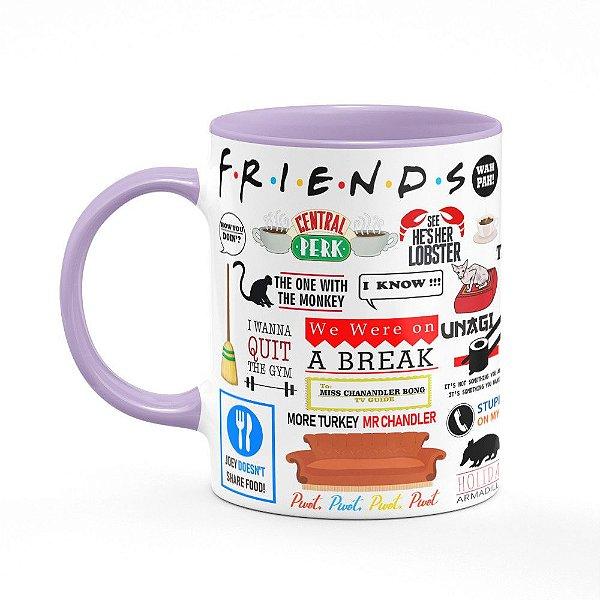 Caneca Friends Icons Moments - B-lilás