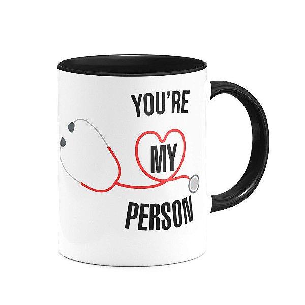 Caneca B-black Greys Anatomy - You're My Person