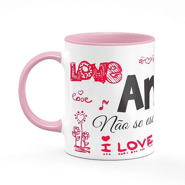Caneca B-pink Namorados Amor não se escolhe