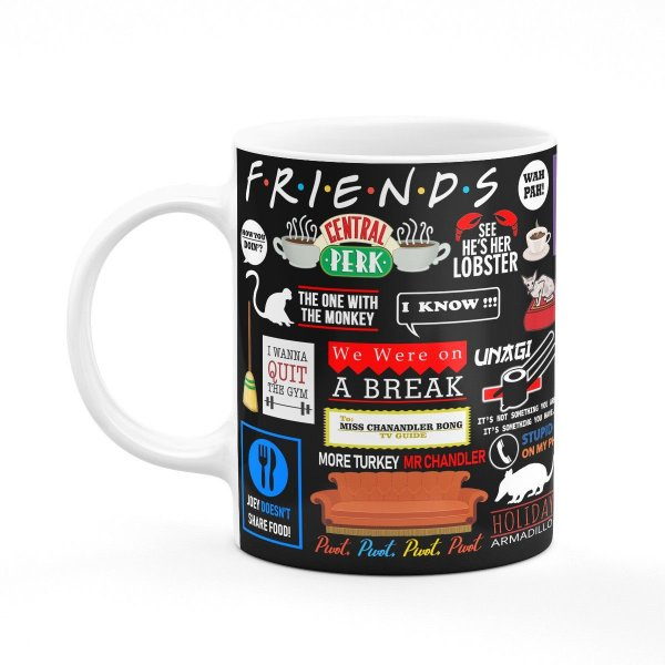 Caneca Friends Icons Moments