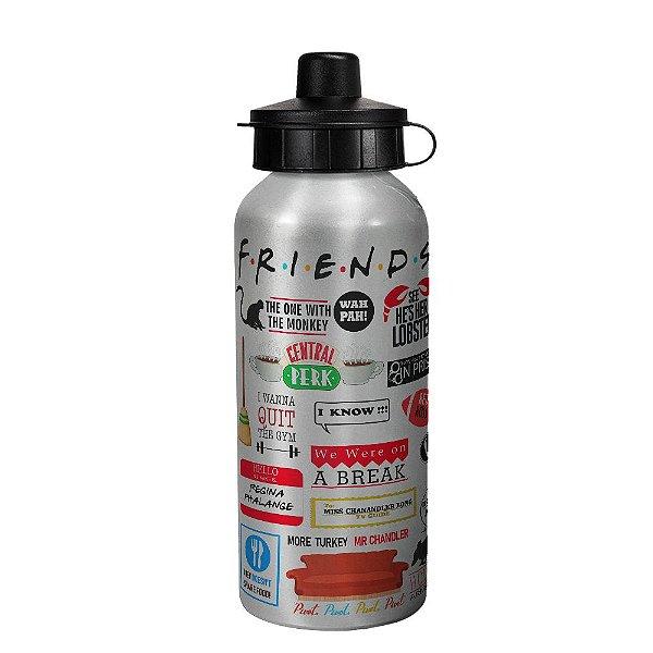 Garrafa squeeze prata - Icons Moments Friends