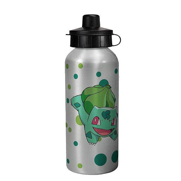 Garrafa squeeze prata - Pokemon Bulbassauro