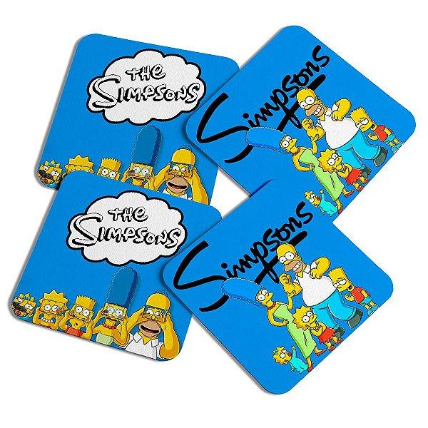 Porta copos quadrado - The Simpsons