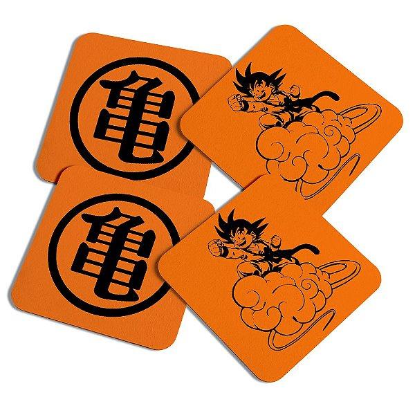 Porta copos quadrado - Dragon ball Son Goku