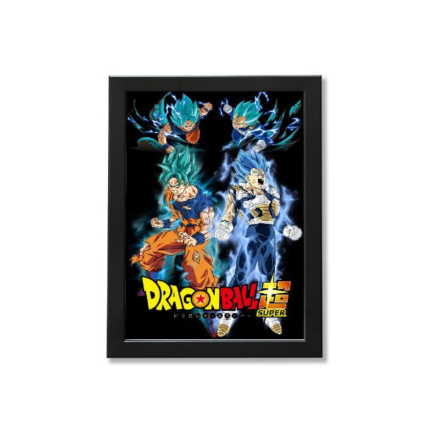 Quadro A4 - Dragon ball Super Goku and Vegeta
