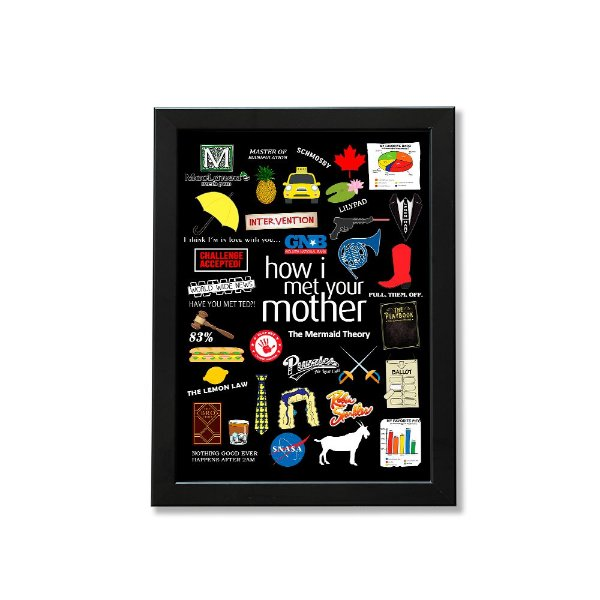 Quadro A4 - Icons How I Met Your Mother