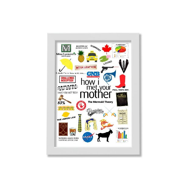 Quadro A4 - Icons Moments How I Met Your Mother Light moldura branca
