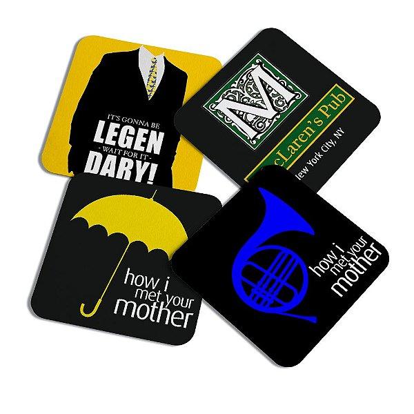 Porta copos quadrado - Icons How i met your mother