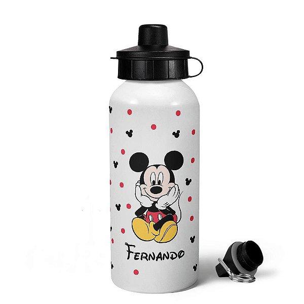 Garrafa Squeeze MQ6 Mickey com nome personalizado