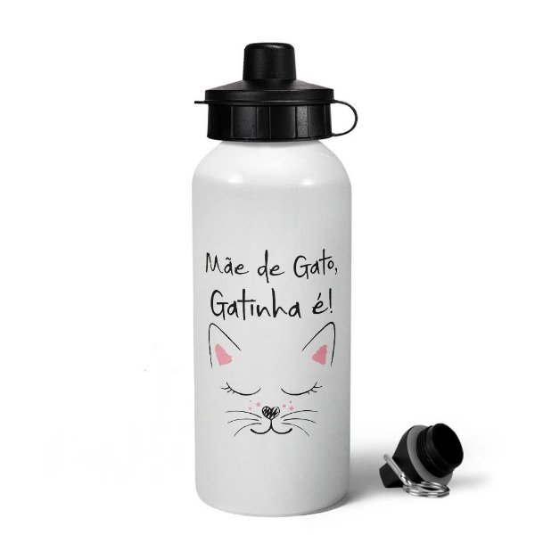 Garrafa Squeeze MQ6 - Mãe de gato, gatinha é (Saldo)
