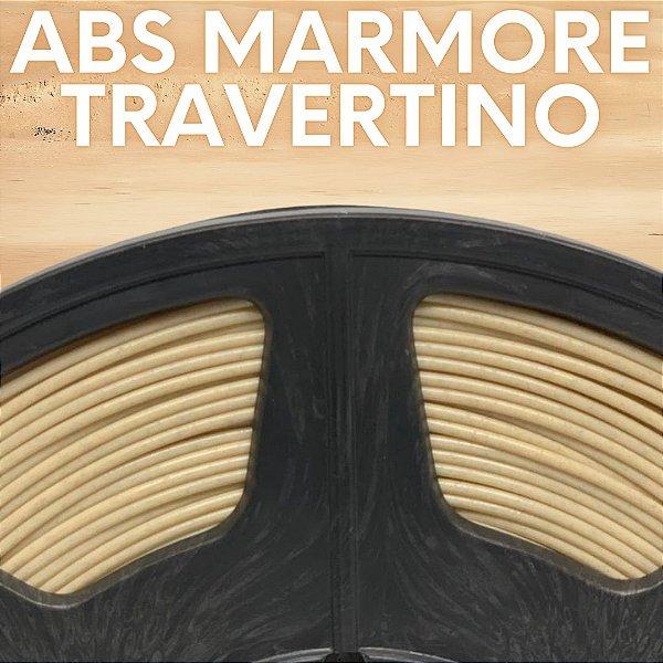 FILAMENTO ABS - MARMORE TRAVERTINO - PREMIUM - MG94 - 100% VIRGEM