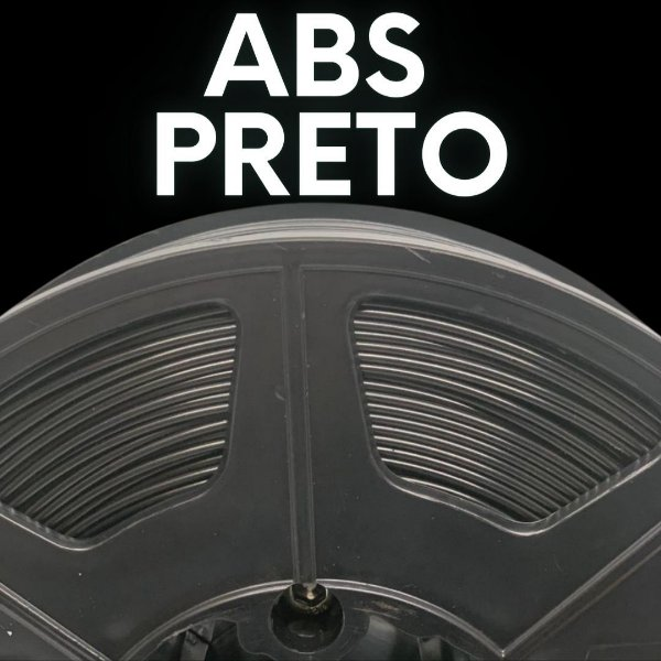 FILAMENTO ABS - PRETO - PREMIUM - MG94 - 100% VIRGEM
